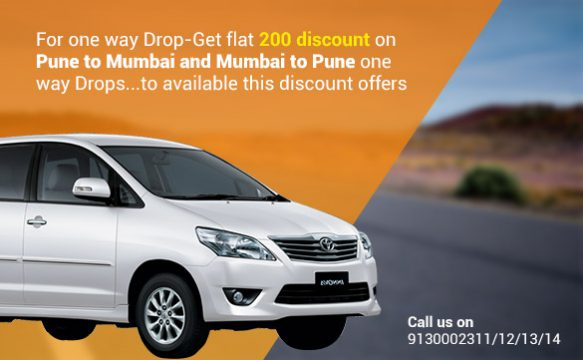 Pune to mumbai and mubai to pune cab taxi